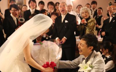 日本初で結婚式サプライズダンスを実施